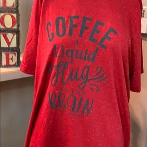 Cabin Coffee t-shirt in an heathered red